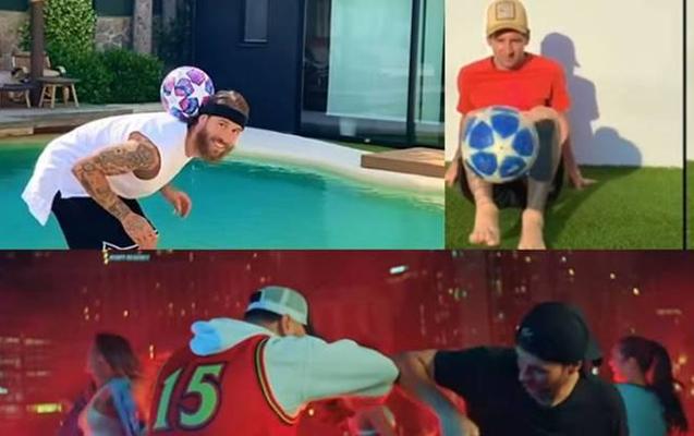 Ulduz futbolçular klipdə yer aldılar - Video