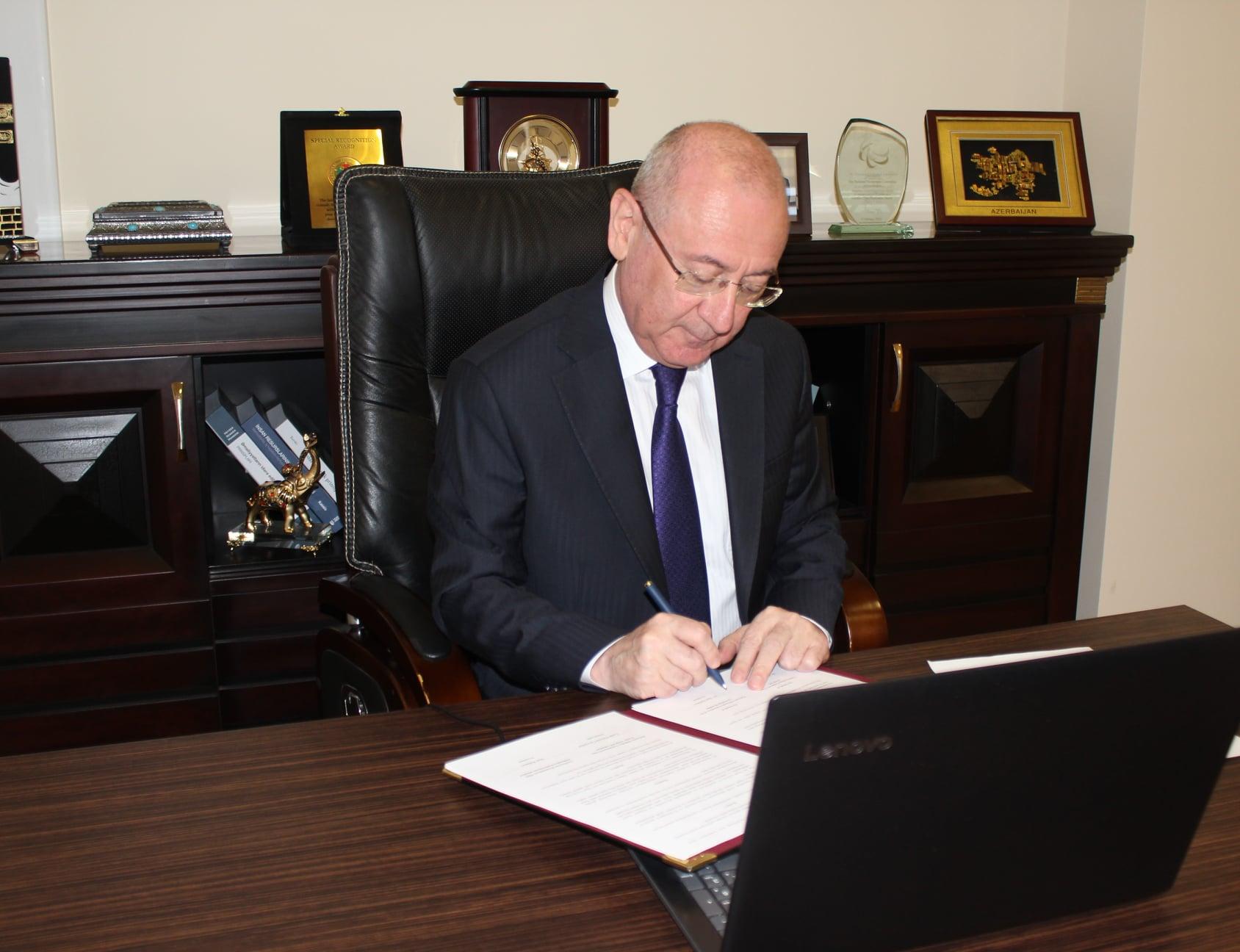Videokonfrans formatında anlaşma memorandumu imzalanıb