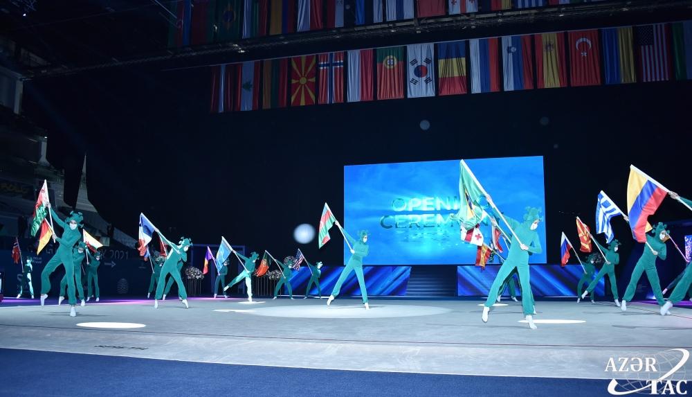 Bakıda bədii gimnastika üzrə dünya kuboku yarışlarının açılış mərasimi olub