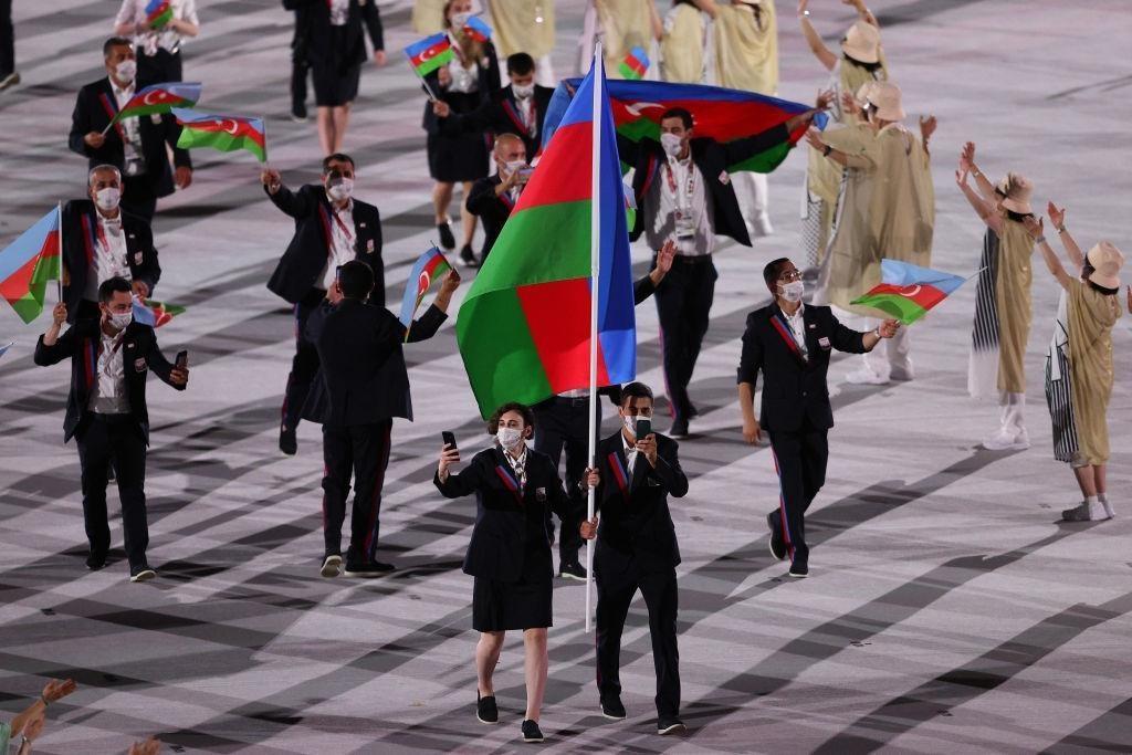 Olimpiya Oyunlarının təntənəli açılış mərasimində Azərbaycan milli komandasının keçidi olub