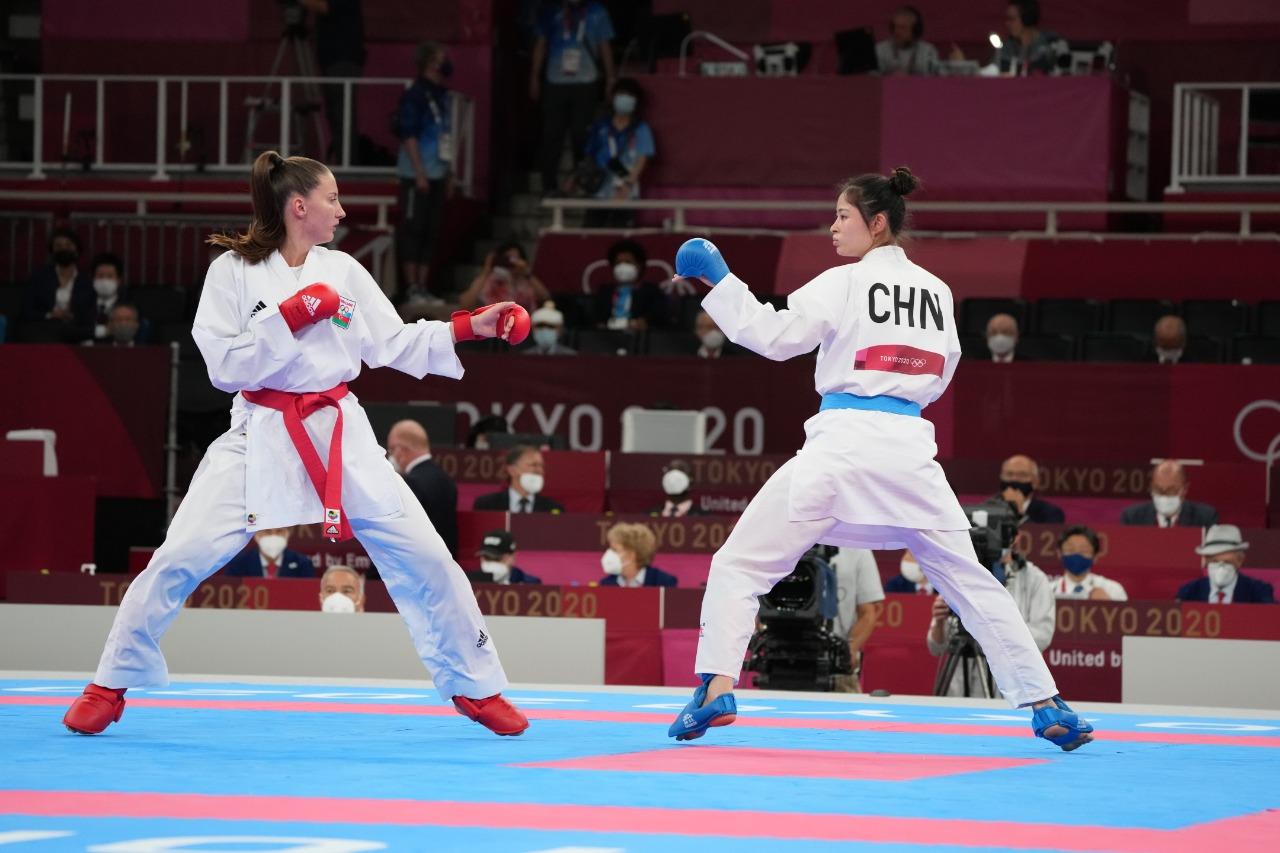 İrina Zaretska Tokio-2020-nin finalında