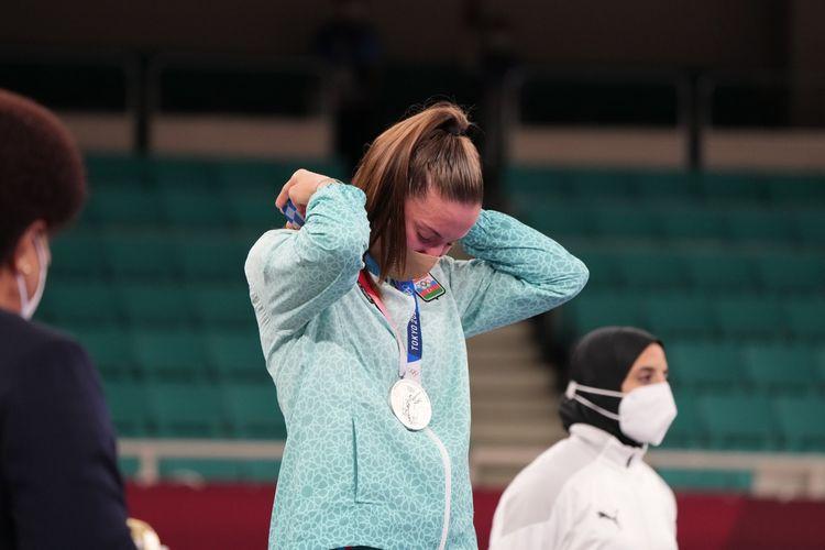 Tokio-2020: İrina Zaretska gümüş medalla təltif olundu - FOTO