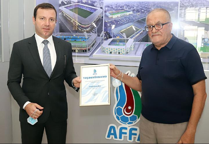 Bakı Kəndlər Futbol Federasiyasının prezidenti AFFA tərəfindən təlif olundu