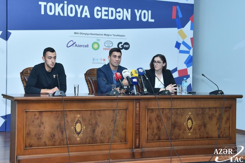 MOK-da Atletlər Komissiyasının fəaliyyətinə həsr olunmuş mətbuat konfransı keçirilib