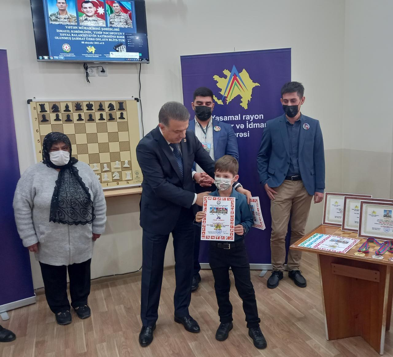 Vətən müharibəsi şəhidlərinin xatirəsinə həsr olunmuş şahmat turniri keçirilib