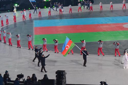 Pxençxan-2018 Qış Olimpiya Oyunlarının açılış mərasimi - FOTOLAR
