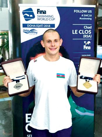 Dohada üzgüçümüzdən 2 medal