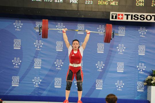 Millimiz Kazanda növbəti medalı ağırlıqqaldırmada qazandı